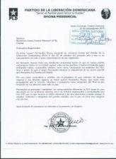 PLD solicita JCE ordenar retiro de propaganda de Leonel con los símbolos del partido morado